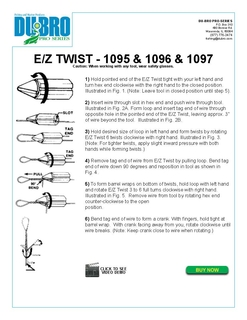 Dubro E/Z Twist Leader Tool #2 Haywire Leader 9-13 Gauge